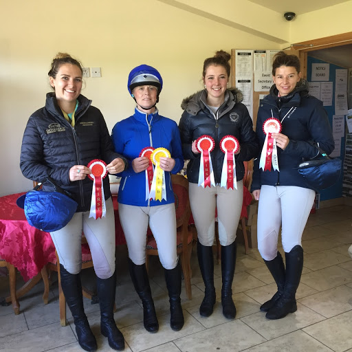 WOW !! The winning 100 Arena Eventing Team of Nicky Polson, Karin Williamson, Megan Page and Kelly Hetherington.