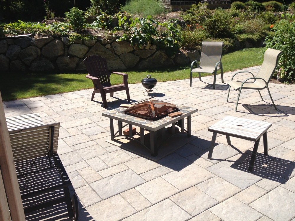 I beautiful remodeled backyard to enjoy all the beautiful Cape Cod day's!