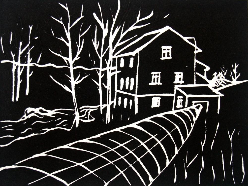 Møllerens hus, svart