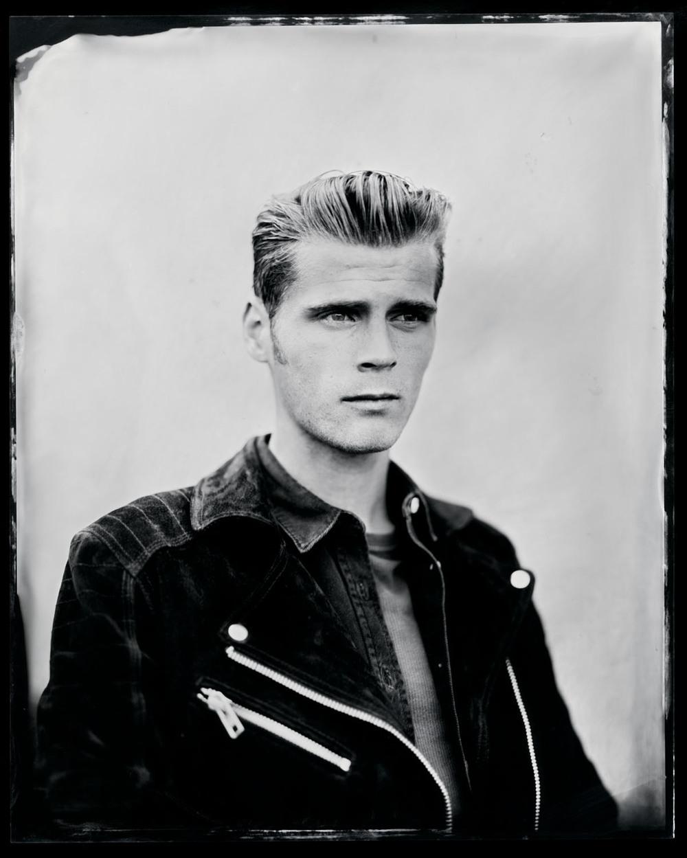 Alfie Hudson-Taylor , tintype, 8x10.