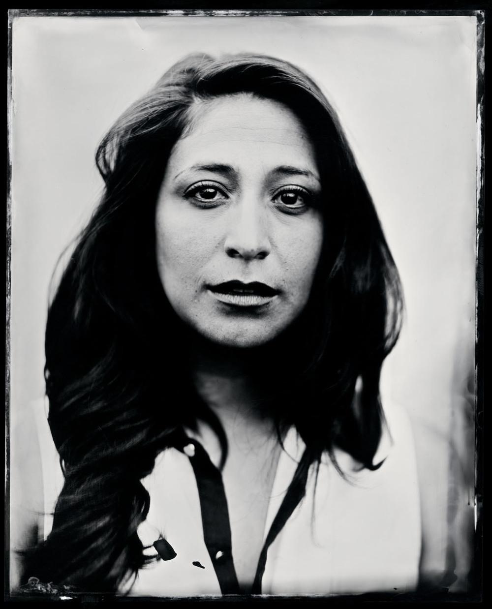 Angelica Maria Baca , tintype, 8x10.