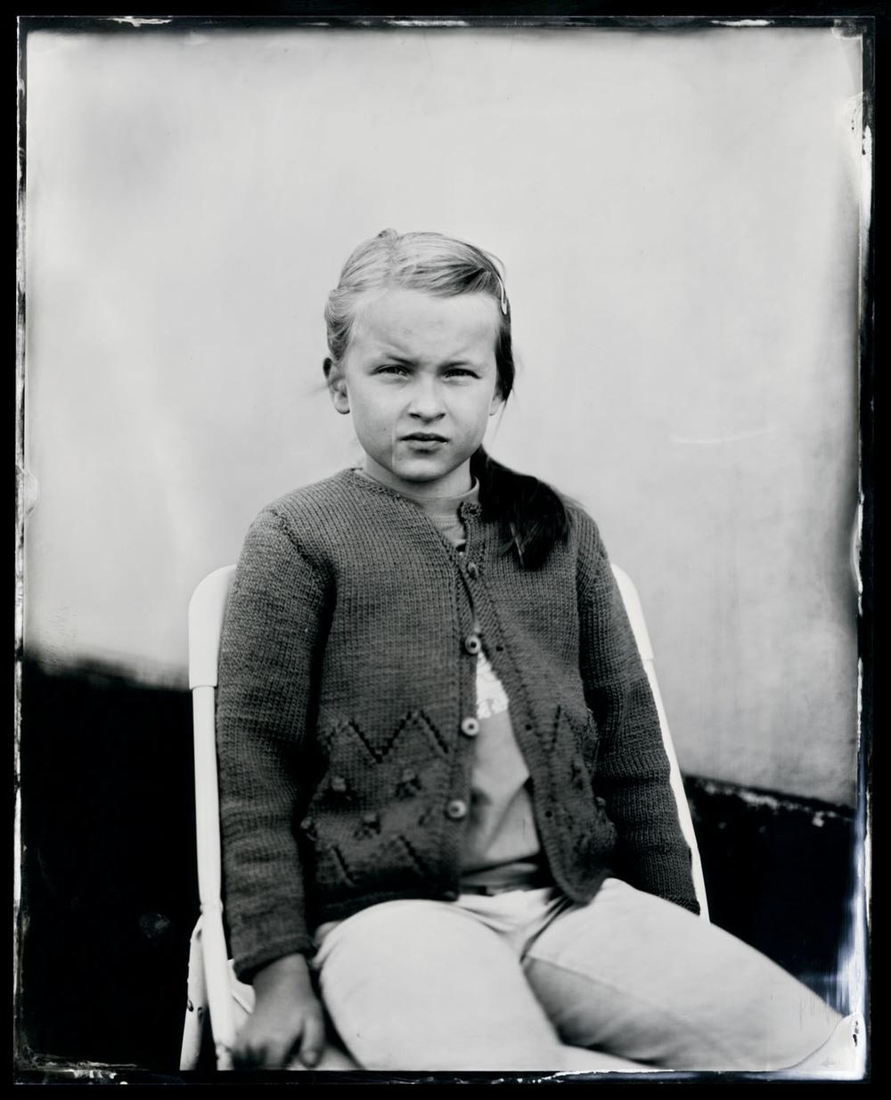 Anneline Friis Østergaard , tintype, 8x10.