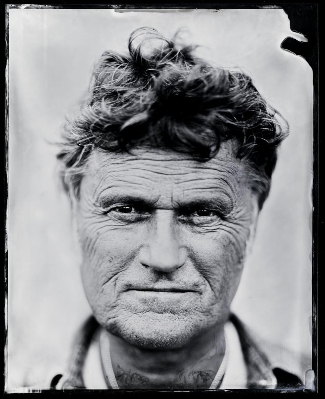 Poul Krebs , tintype, 8x10.