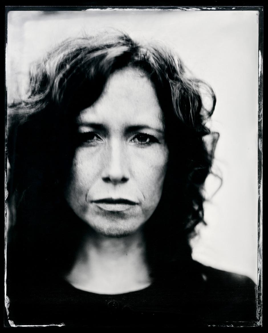Sarah Lee Guthrie, tintype, 8x10.