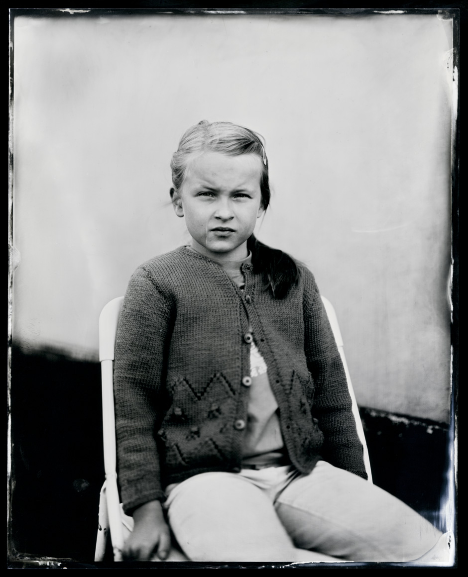 Anneline Friis Ostergaard, tintype, 8x10.