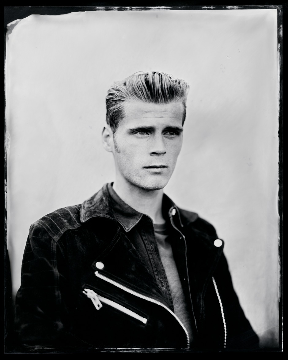Alfie Hudson-Taylor, tintype, 8x10.