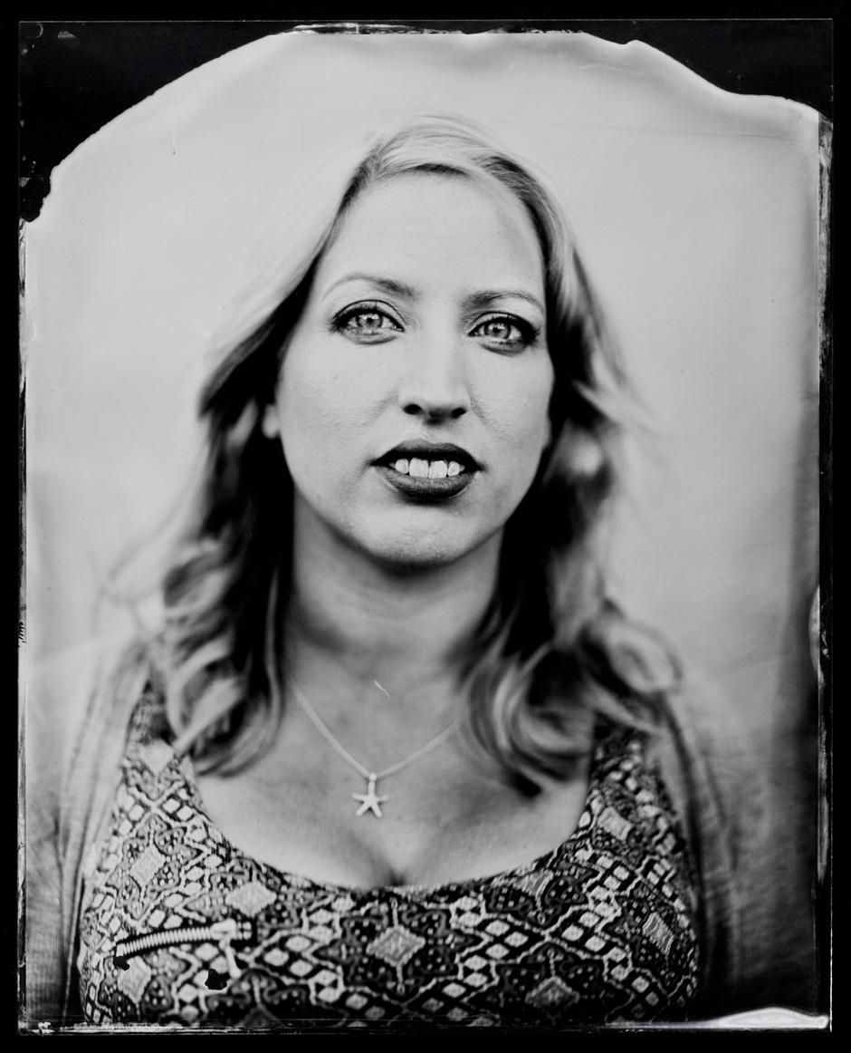 Ailie Robertson, tintype, 8x10.