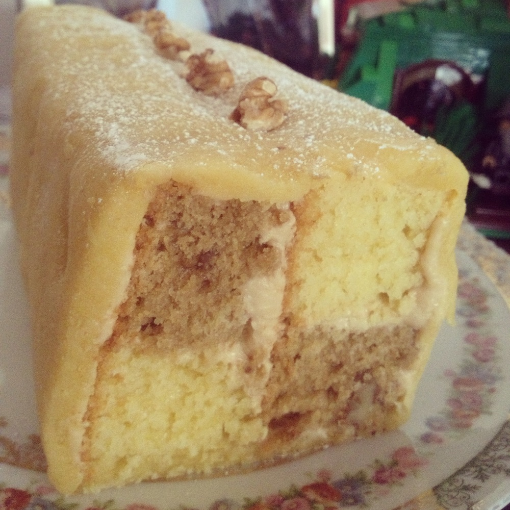 Coffee and Walnut GF Battenburg