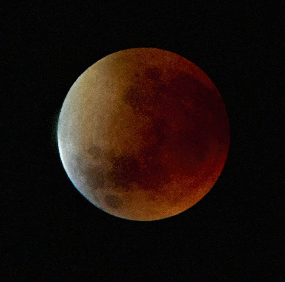 September 27, 2015 Lunar Eclipse - Jim's iPhone shot through the telescope.  Amazing...