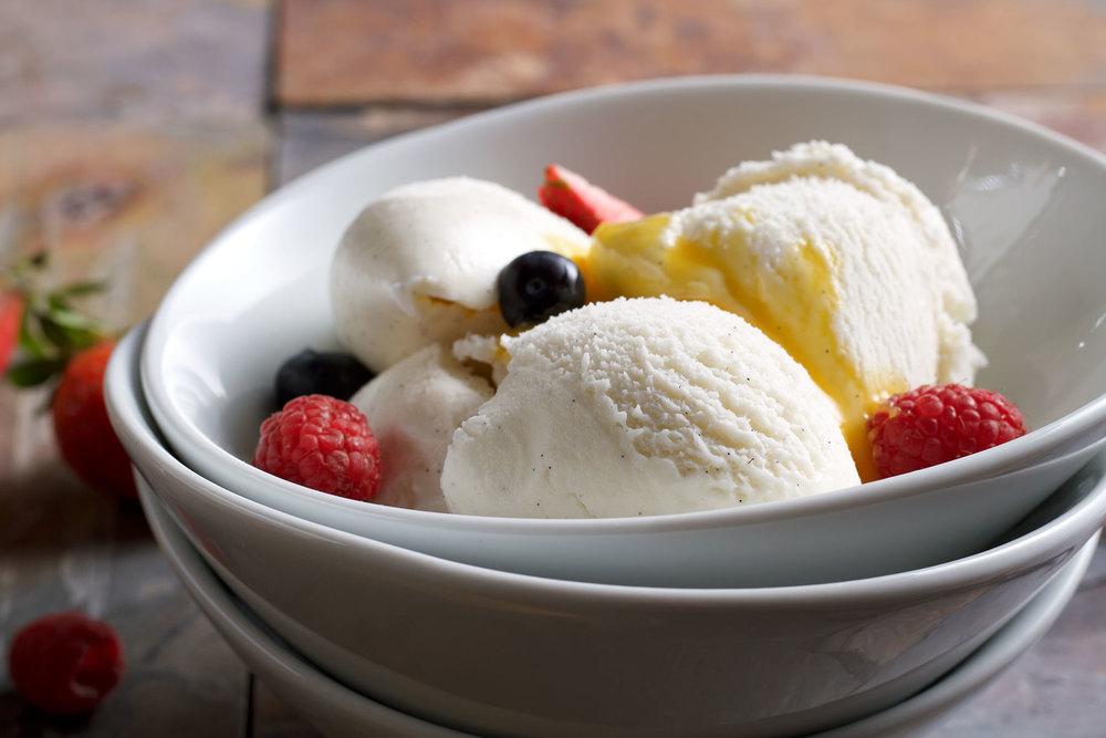 Delicious vanilla ice cream