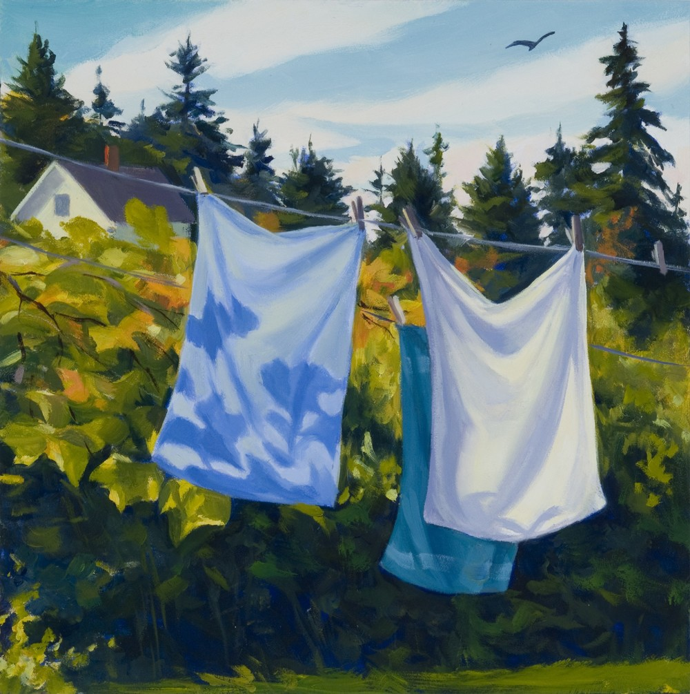 Clothesline and Grapevines