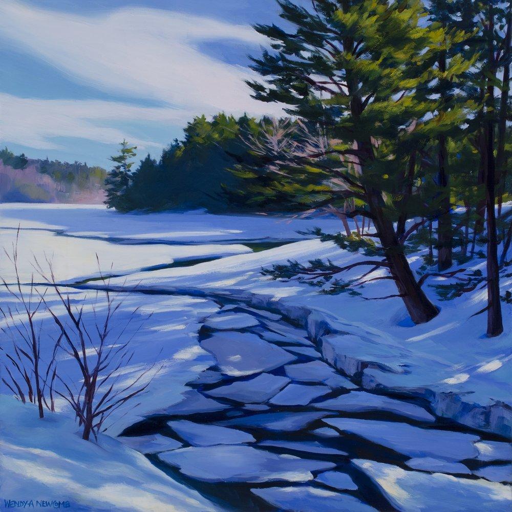 "Ice Puzzle  Oil on panel  16 x 16""  $1,600"
