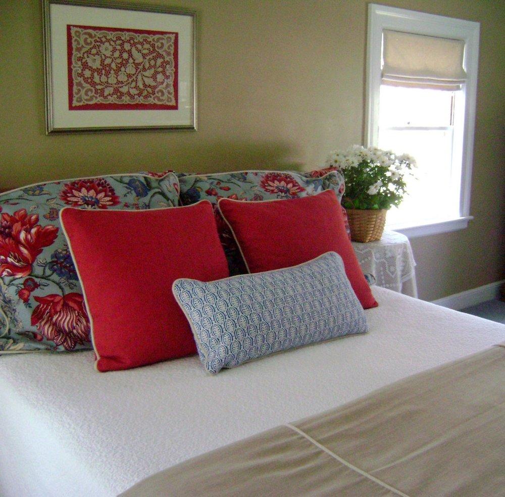 Custom bed linens, Newton, MA
