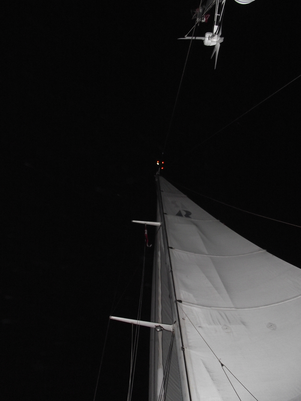 Night Sailing - Alcyone from Virgin Gorda to Florida - June night 2013