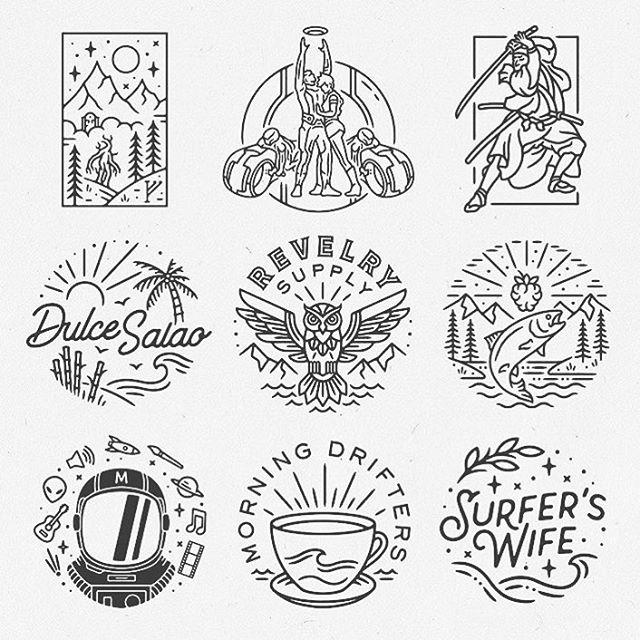 Very cool logos designed by @liamashurst . . . #logo #badge #graphicdesign #typography #branding #illustration #graphics #print #marketing #business #documentowls
