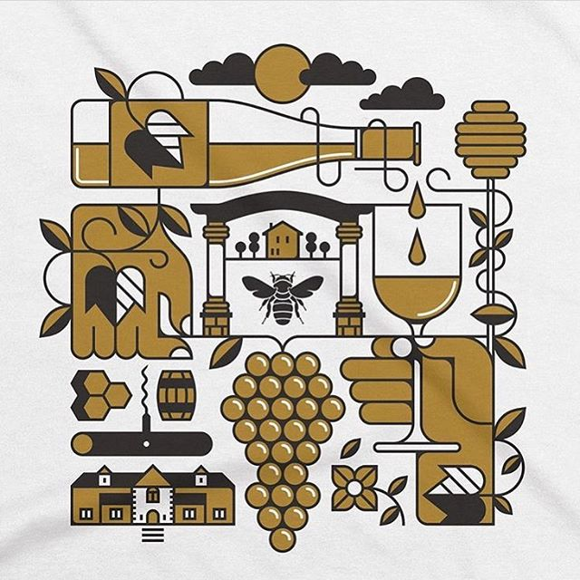Great illustration work by @doublenautdesign for @rosewoodwine . . . #illustration #lineart #graphicdesign #print #shirt #tshirt #brandingdesign #identity #brandidentity #wine #silkscreen #business #marketing #advertising #documentowls