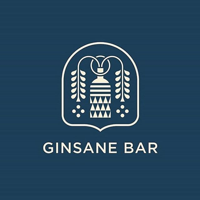 Ginsane Bar by @brad_cuzen . . . #logo #mark #ginsane #bar #graphicdesign #print #brand #branding #brandidentity #marketing #illustrator #shapes #geometric #business #food #documentowls