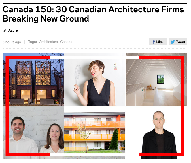 Polymetis has been named part of the  30 Canadian Architecture Firms Breaking New Ground
