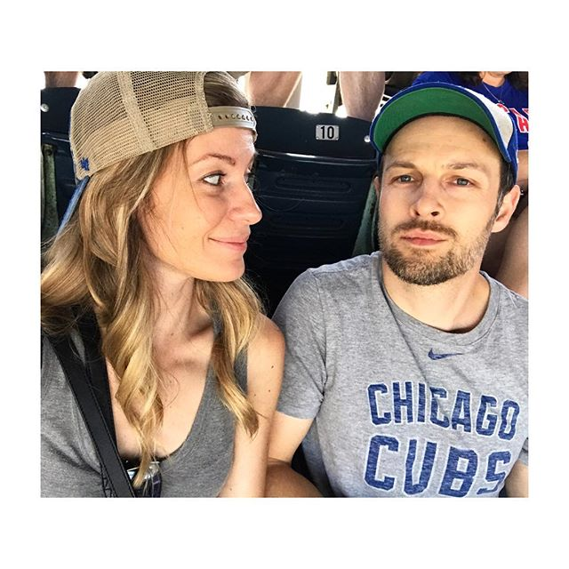 Cubby Couple today. Summer bucket list item 2, see my work as a fan and drink Old Style and snarf down a hot dog. #labordayweekend #latetosummer