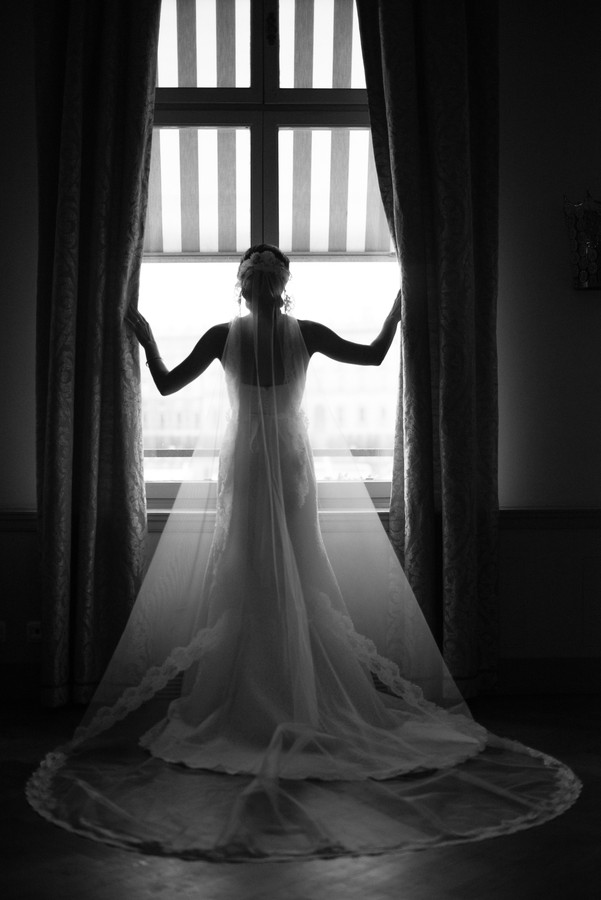 Bride in a window
