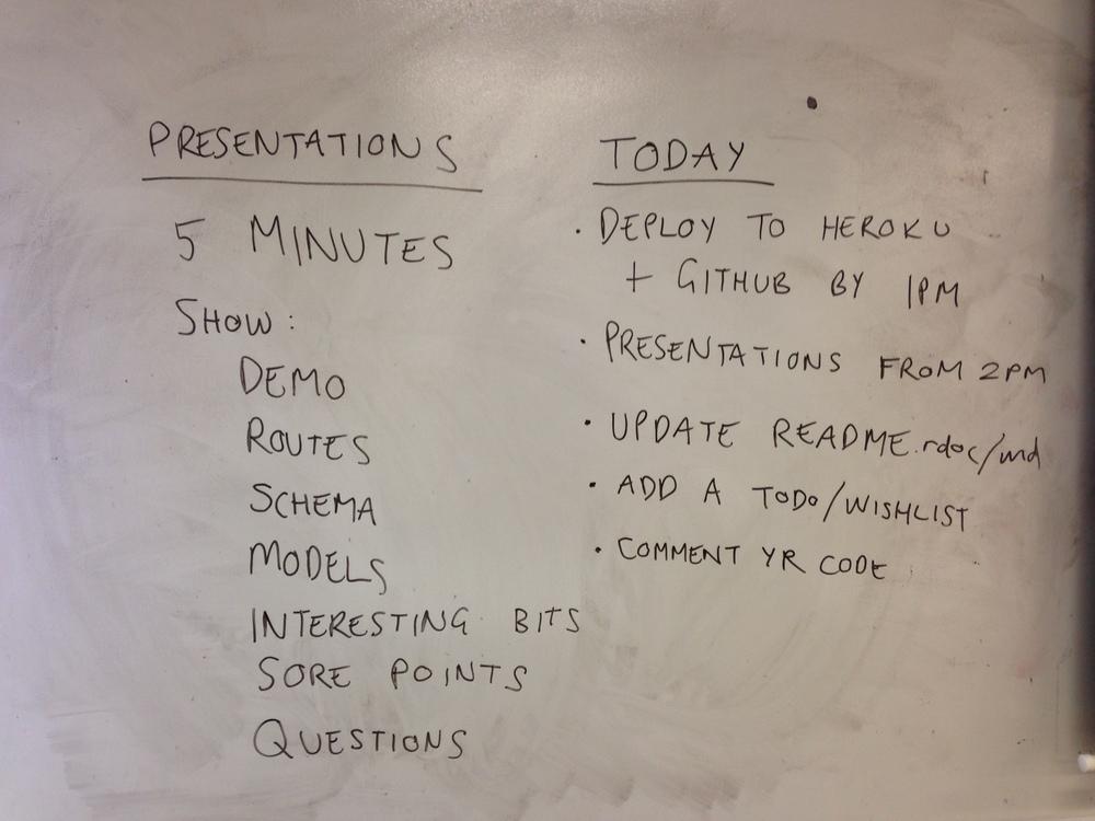 Presentation day. Bring it.