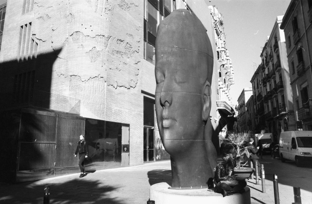 ' Carmela' iron sculpture created by Jaume Plensa