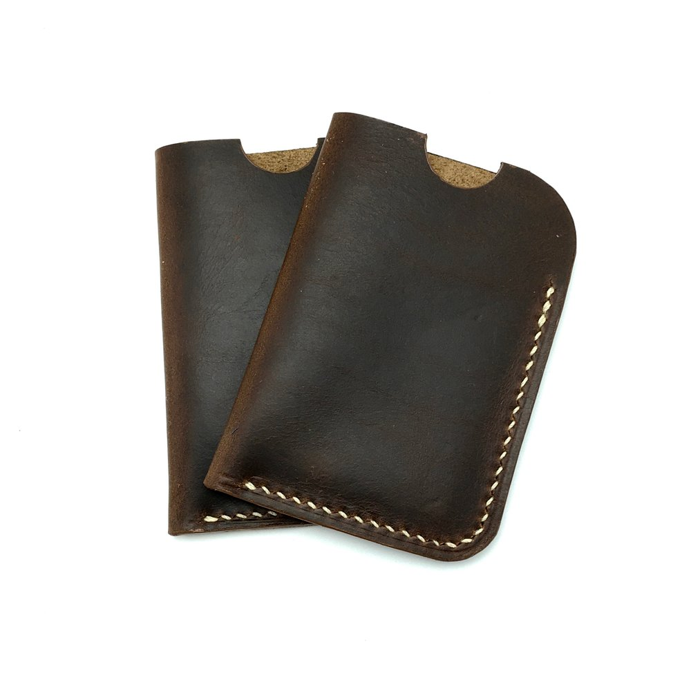Brown Horween Chromexcel Card Sleeve