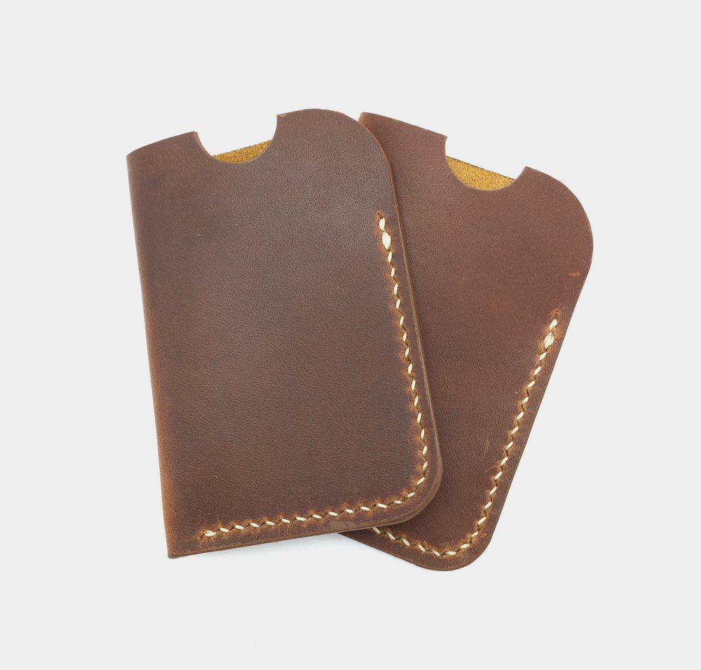 Golden Brown Oil Tan Card Sleeve