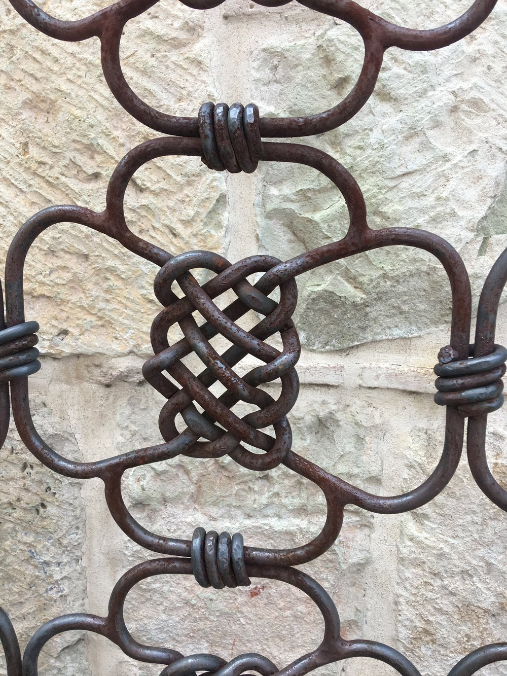 This was part of a huge gate that featured these interlocking forged metal pieces.  So cool.