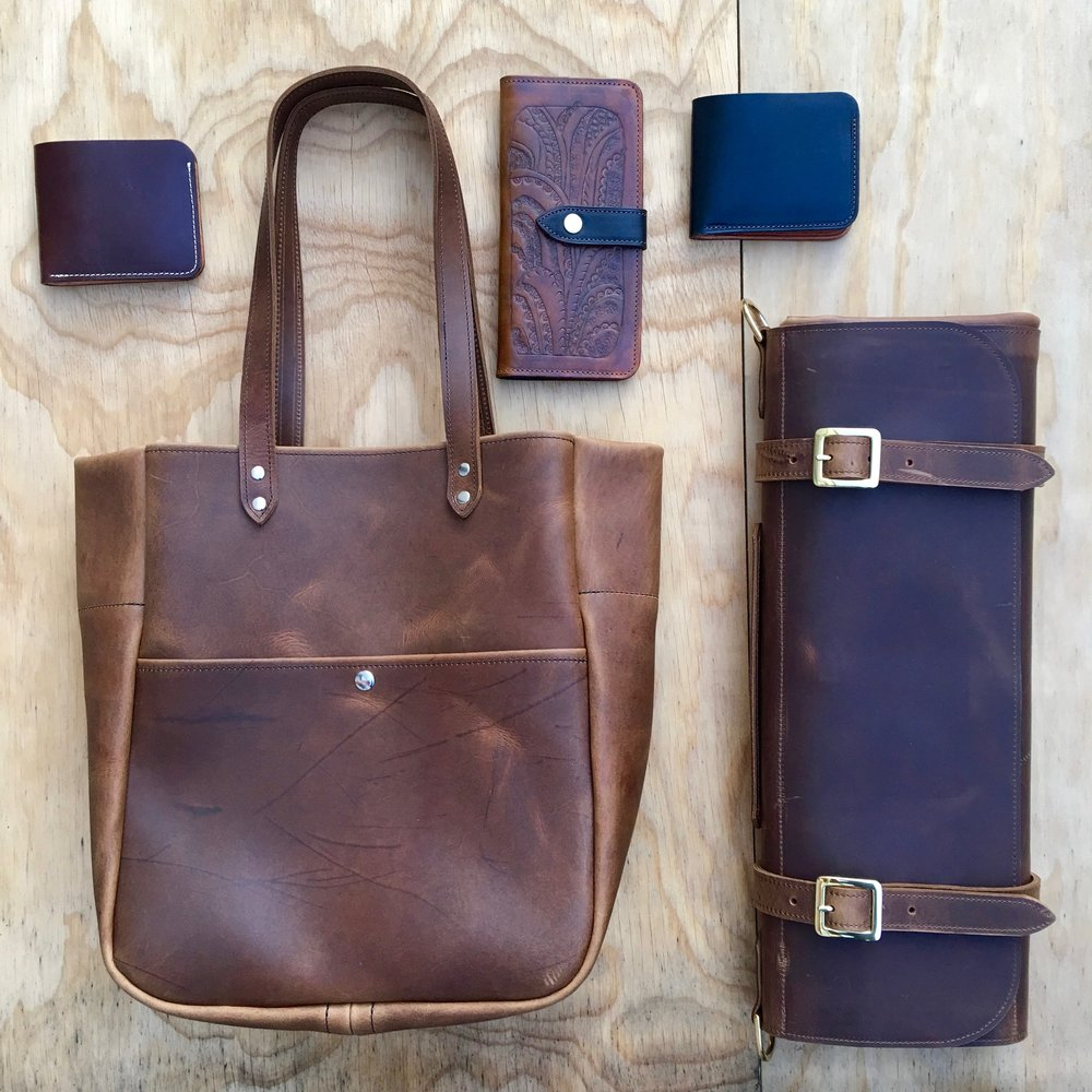 jaw leather goods spread