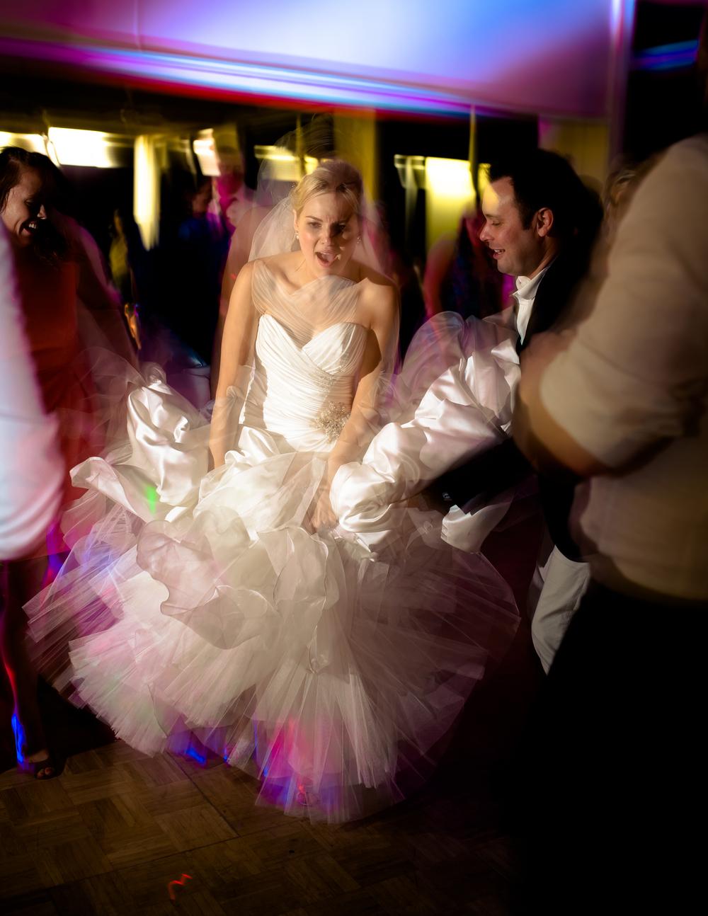 Love love L O V E a little bit of shutter drag action when things start to heat up on the dance floor!!