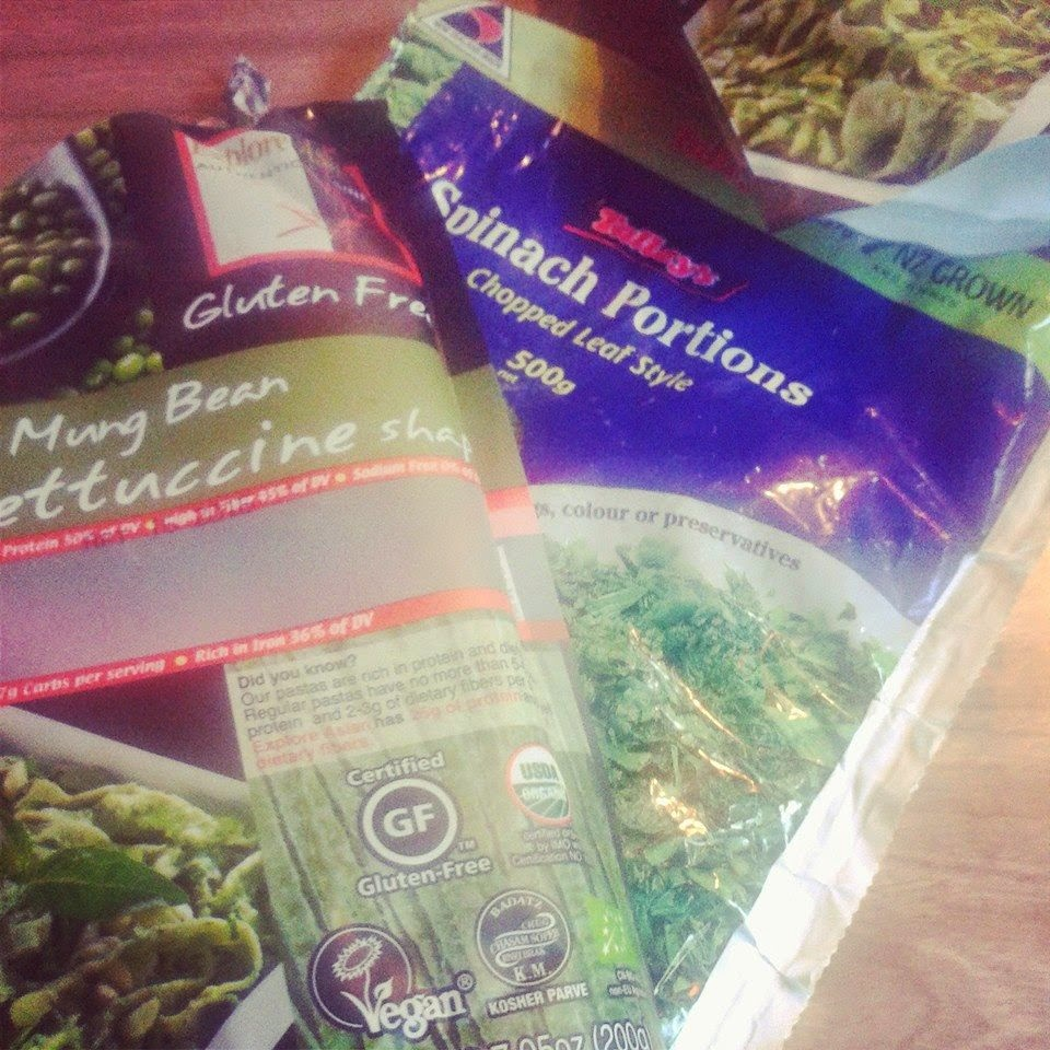 Gluten Free Pasta.  WARNING and UPDATE!!  If you are Soy Free I believe that they are now adding soy to the Mung Bean Pasta. Check the pack if you don't eat Soy.