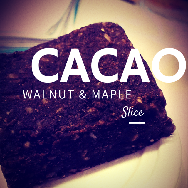 cacao maple walnut slice