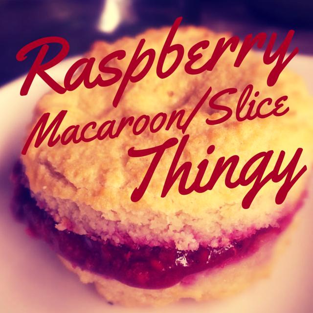 Raspberry Macaroon Slice