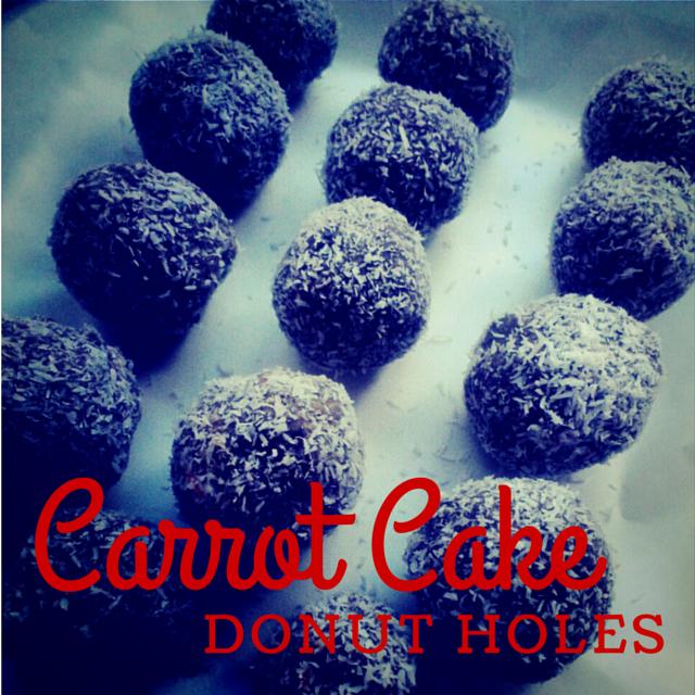 carrot cake donut holes