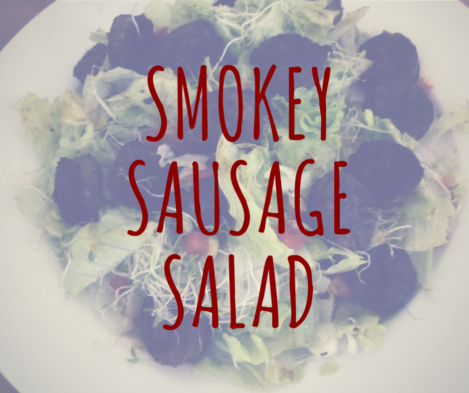 smokey sausage salad