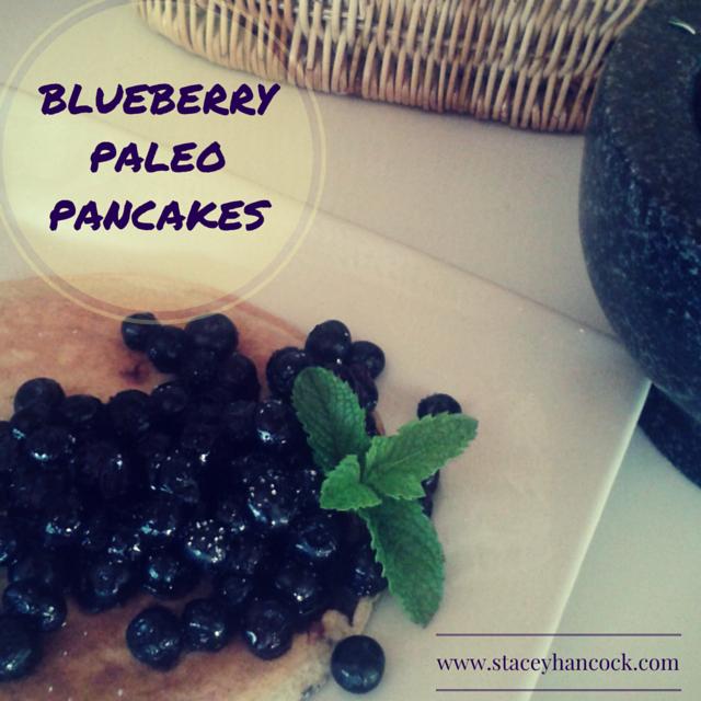 blueberry paleo pancakes