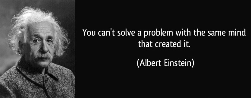 you can't solve a problem einstein