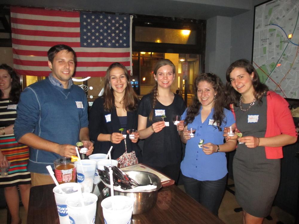 Young alumni reunite at a Boston event