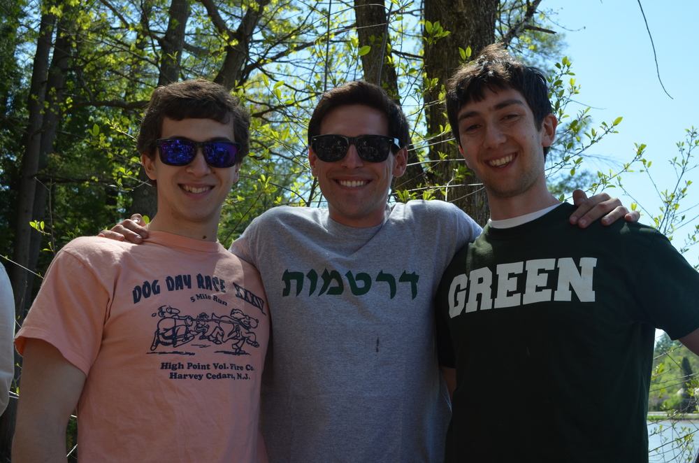 David Mannes '17, Michael Klein '14 and Philip Mannes '16 enjoying the beautiful, sunny weather