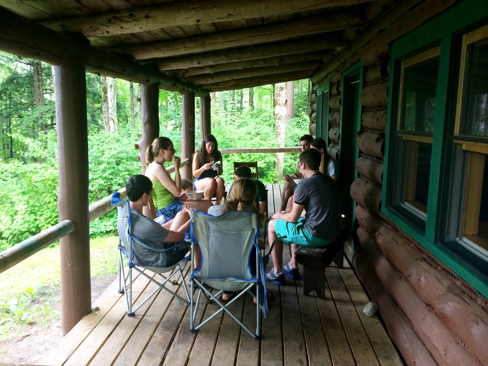 Dinner at the cabin