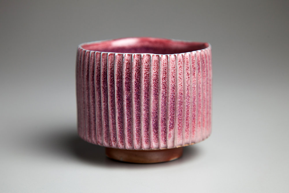Woodfired Tea Bowl with Copper Red Glaze  2013