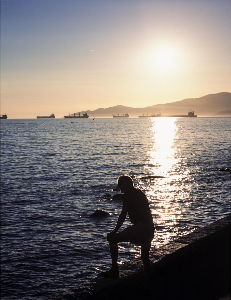 'Sunset over English Bay' - Mamiya 7 on Fujichrome Provia 100F