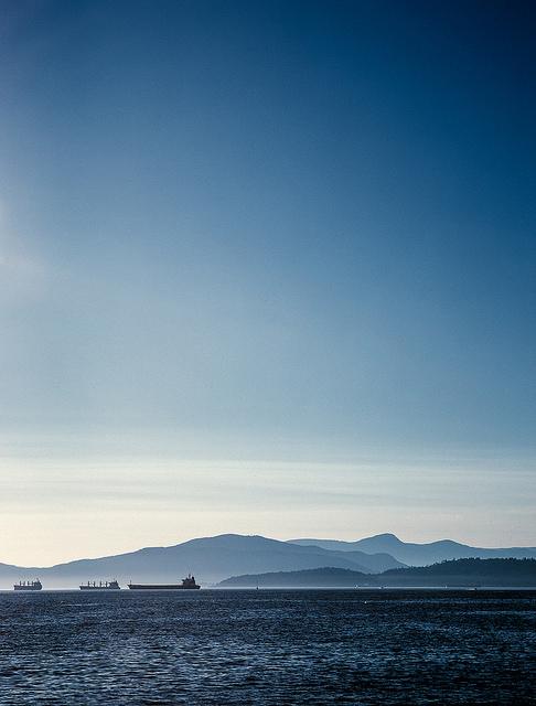 'Three Ships' - English Bay, Vancouver, BC Mamiya 7 | Mamiya 150 f/4.5 | Fuji Provia 100F