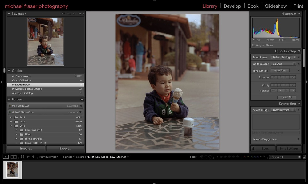 Apply creative edits in Lightroom, to taste.