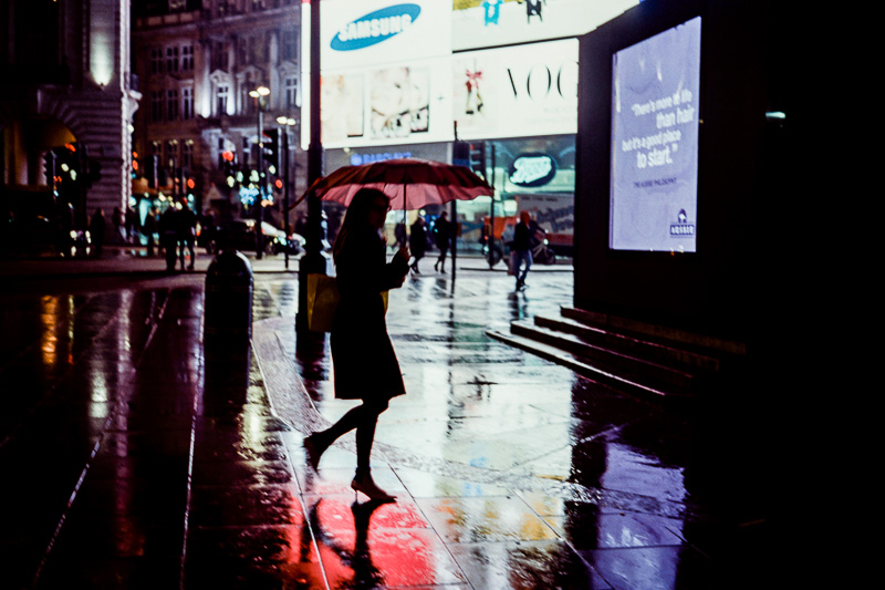 'Piccadilly Rain' - London, England - November, 2014 Leica MP | CV Nokton 40 f/1.4 | Kodak 500T (5219) Motion Picture FIlm