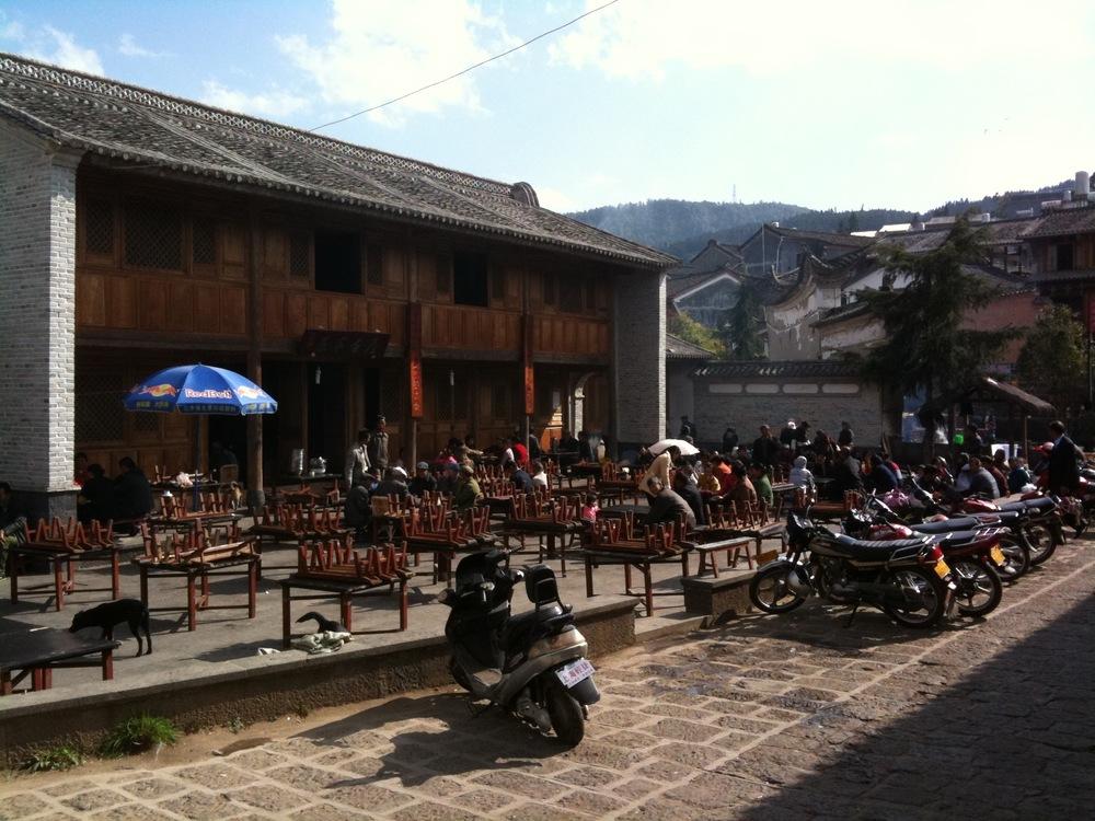 Teahouse in Heshun Village, Yunnan