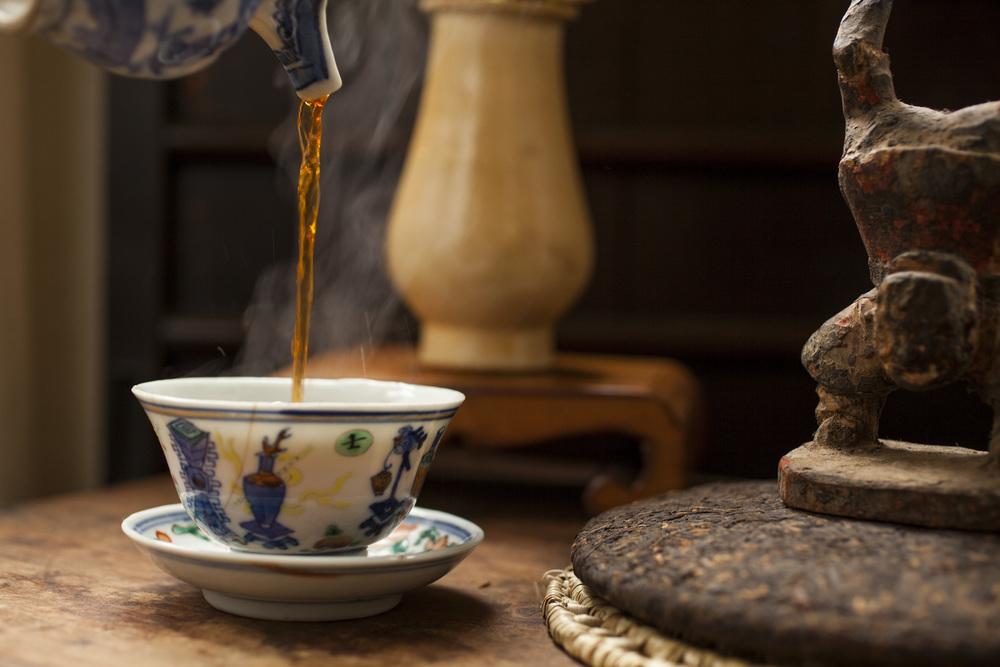 Ch'ing Dynasty wu ts'ai tea bowl
