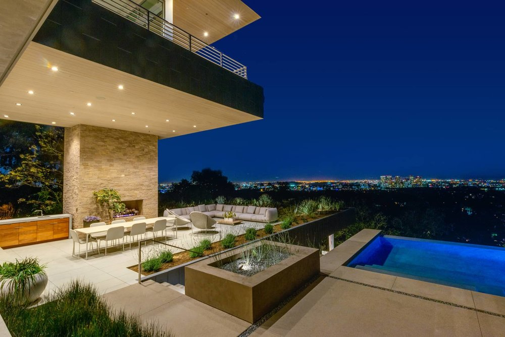 Beverly Hills twilight view by ZenHouse Collective