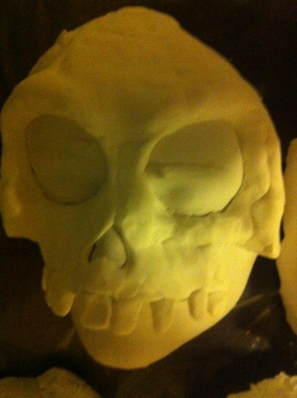 Alginate Face Casting & Gesso Process Shot